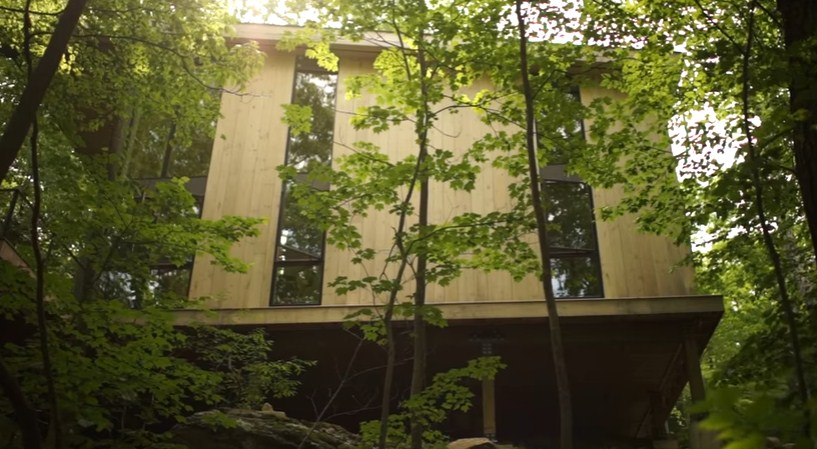bangunan rumah kayu mewah untuk istirahat jasa bangun