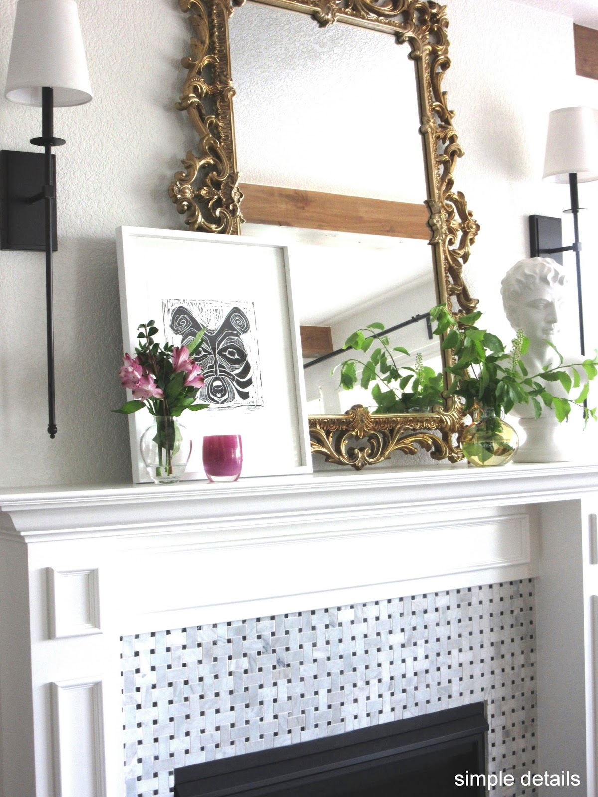 simple details one room challenge eclectic great room reveal