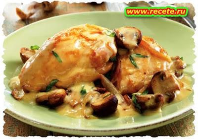 Chicken Kiev with Tomato Gravy