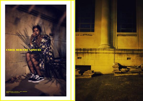 Under Mercury Vapours. A fashion story, P1-2 By Kent Johnson.