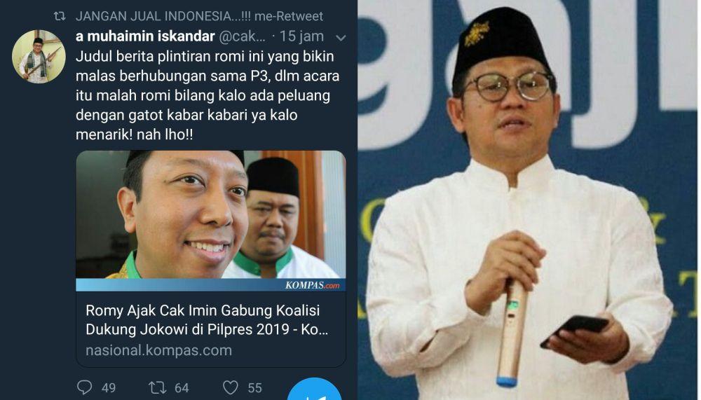 Seru... PKB Bantah PPP Soal Rommy Ajak Cak Imin Dukung Jokowi