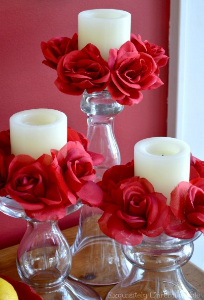 DIY Floral Candle Rings