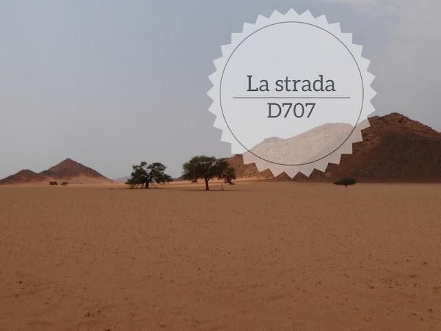 Strada scenografica D707 in namibia