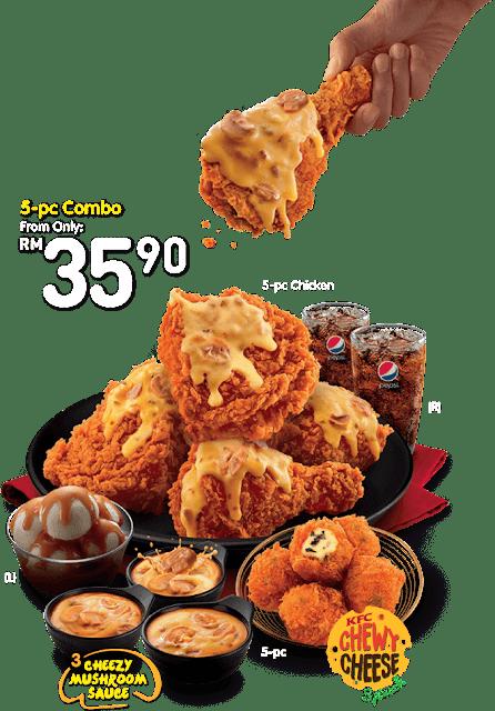 KFC Cheezy Mushroom Crunch