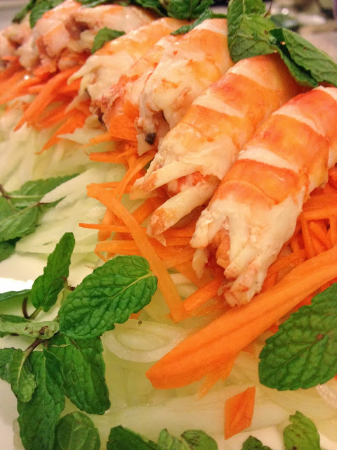Sweet Kwisine, salade, vietnam crevettes, papaye, cuisine légère, menthe