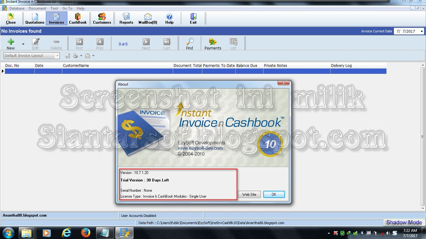 Siantarsof INSTANT INVOICE N CASHBOOK - Instant invoice