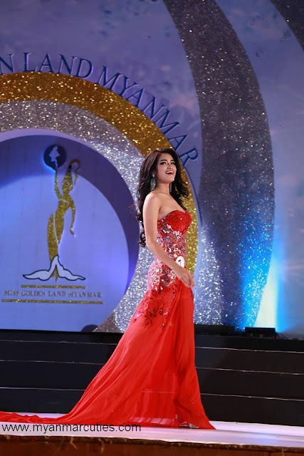 May Hnin Thu at miss gold land myanmar competition