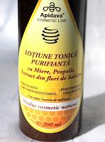 Lapte demachiant si lotiune tonica purifianta de la Apidava - in rutina mea de ingrijire