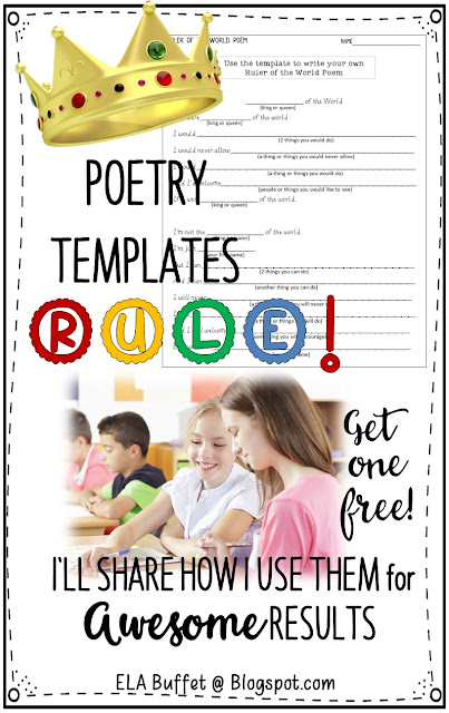 POETRY WRITING | NATIONAL POETRY MONTH | Writing poetry doesn't have to be daunting for kids! Use poetry templates and watch their confidence soar! #poems #writing #stations #poetrylessons #movement #writinglesson #middleschool #poetrytemplates #middleschoolela