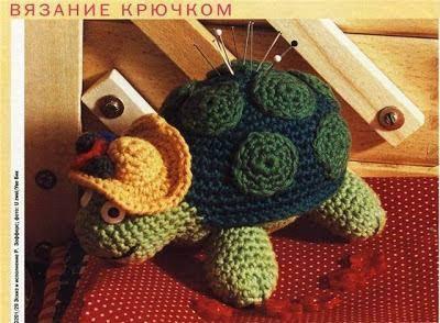 Patrón #1592: Amigurumi Tortuga a Crochet