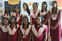 Actress Priya Anand in T Shirt with Students of Shiksha Movement Events 12.jpg