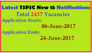 TSPSC 2437 POSTS Vacancies