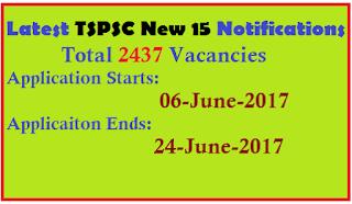 TSPSC 2437 POSTS Vacancies