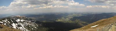 Panorama na północ z Babiej Góry
