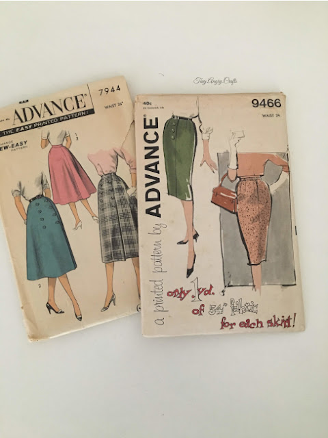 1940s, 1950s, vintage sewing patterns