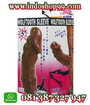 kondom wolftooth sleeve, kondom bergerigi, kondom sleeve, kondom berduri, kondom silikon, kondom pria, kondom sambung, kondom pembesar alat vital pria, kondom pembesar mr p, alat kontrasepsi pria, kondom sambung alat vital