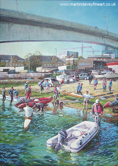 Itchen bridge rowing club artwork landscape