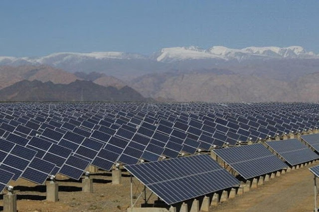 China is home to the world's largest solar farm