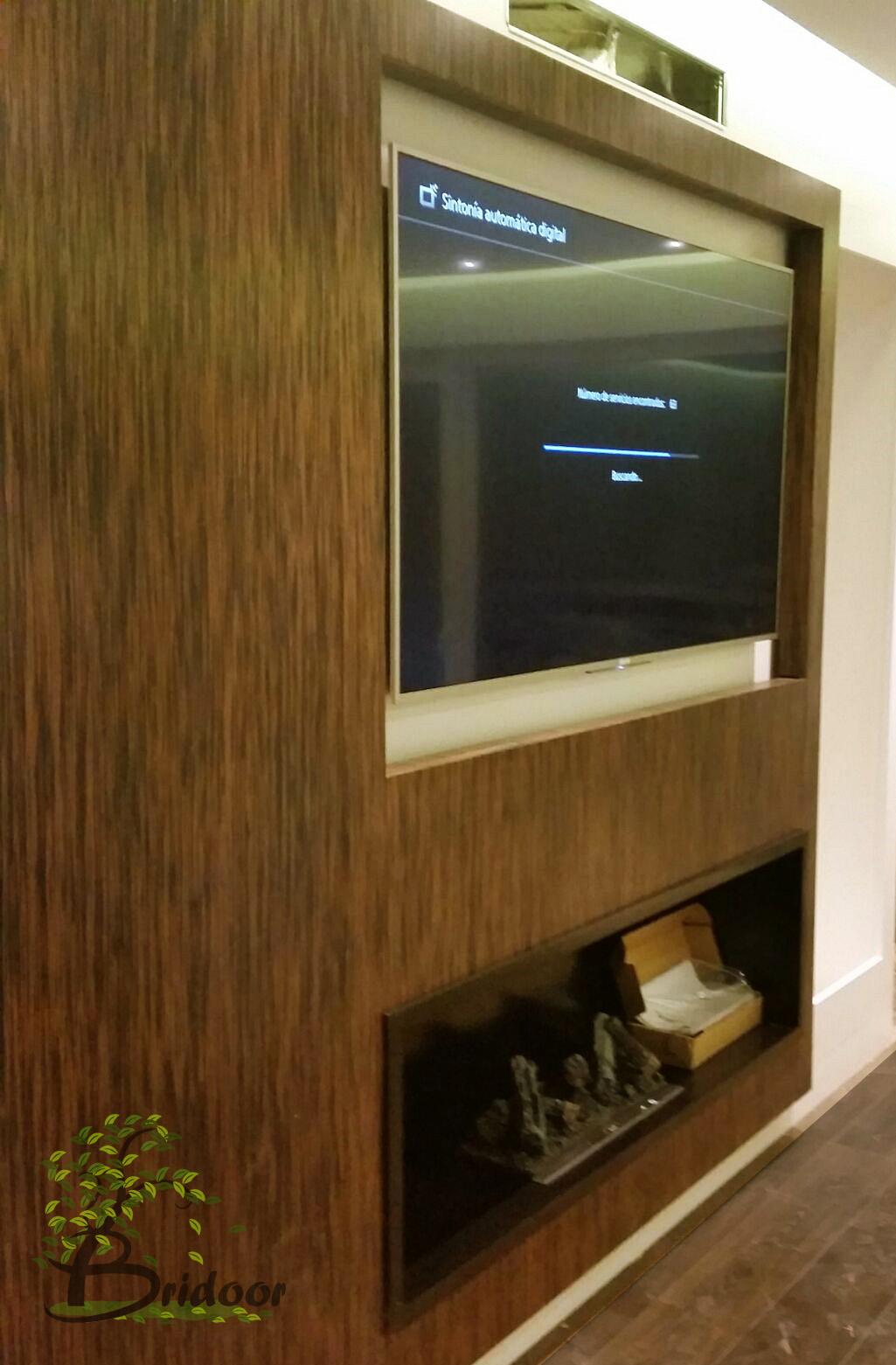 Bridoor Sl Panelado En Madera De Ebano Rojo Para Pared Television - Panelado-madera