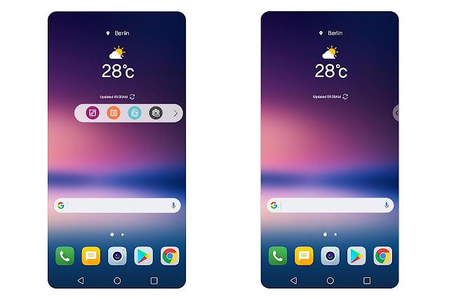 Giao diện mới trên LG V30 sẽ tối ưu cho màn hình 18:9, nhiều tiện ích mới