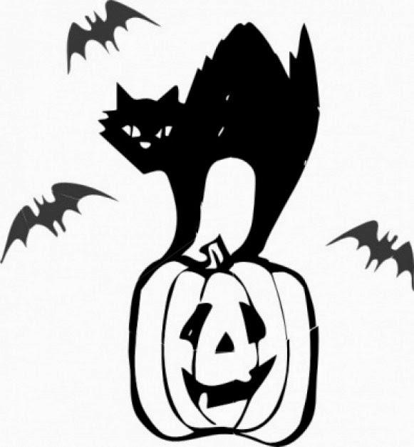 Silueta Gato Halloween Para Colorear Gatos Silueta Imágenes Descarga