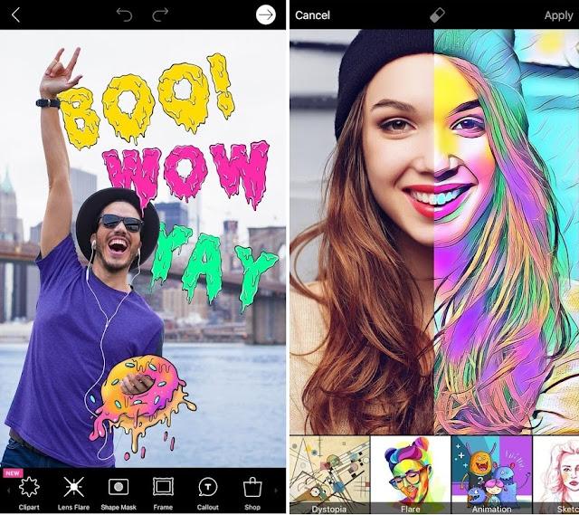 Tampilan Aplikasi PicsArt Photo Studio