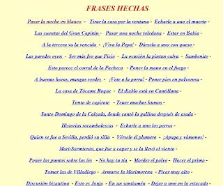3º Y 4º De Primaria Significado De Las Frases Hechas