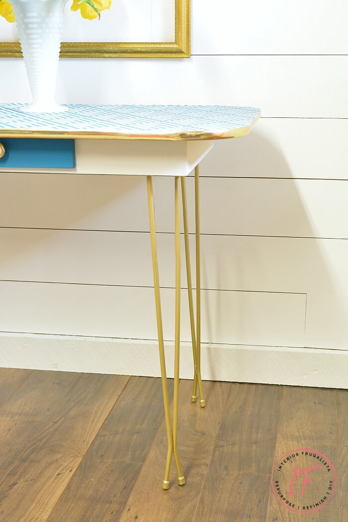 Painted Arborite Retro Dining Table