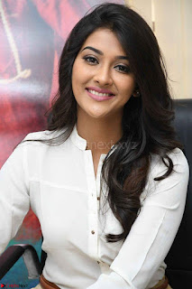 Pooja Jhaveri in White Shirt and Brown Trousers Spicy Pics 03.jpg