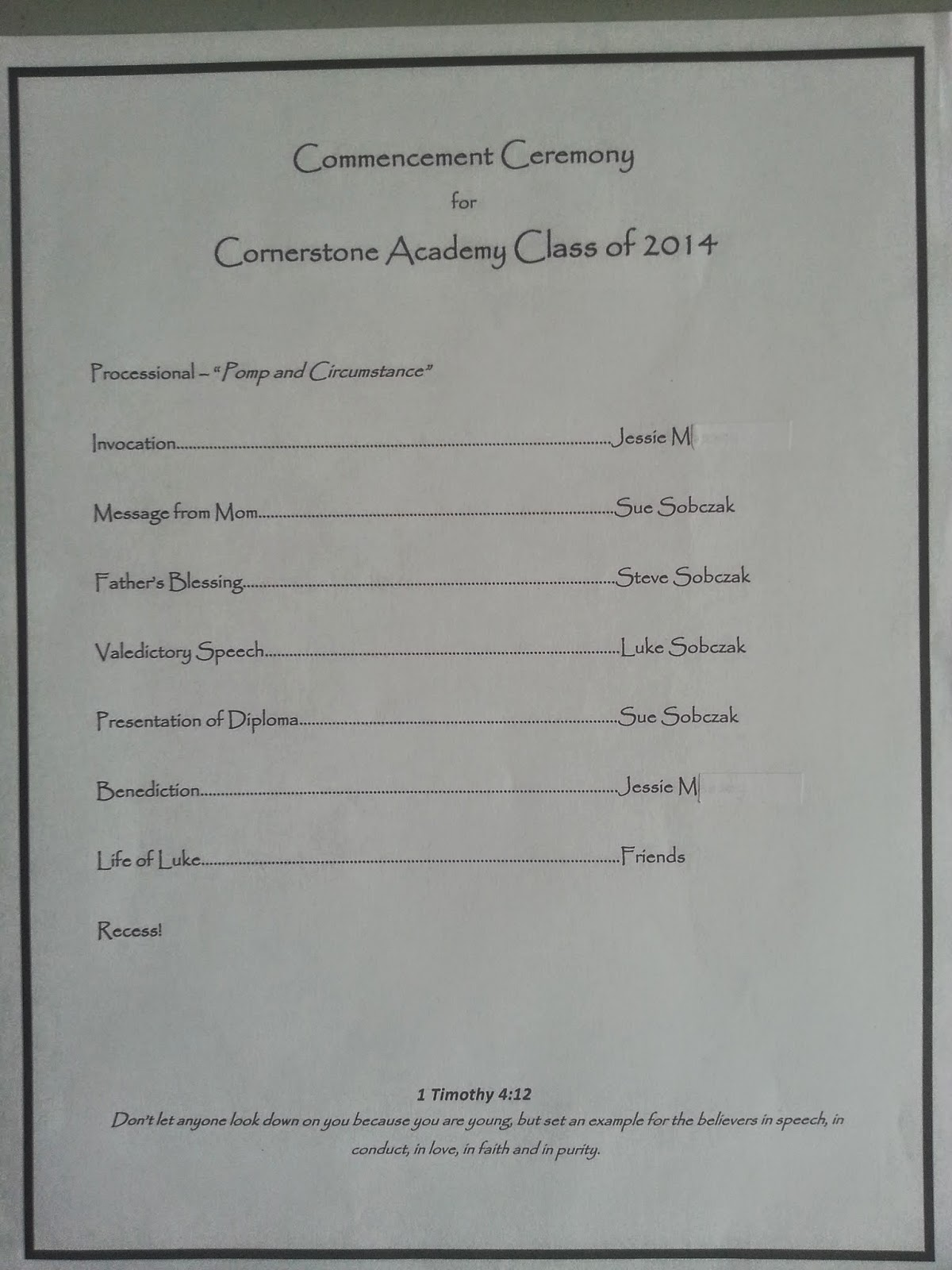 Journeying Sue: Homeschool Graduation Program Template
