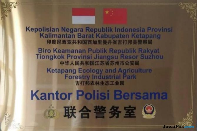 Oh Ternyata Begini Fakta Heboh Kantor Polisi Bersama Indonesia-Tiongkok di Ketapang