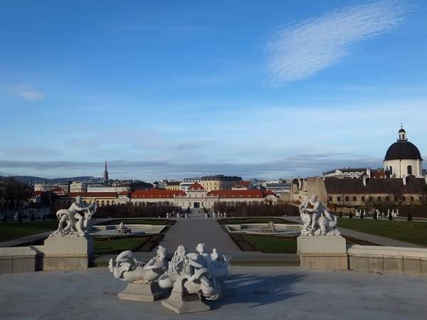 Vienne Vienna Wien Belvédère inférieur palais schloss jardins