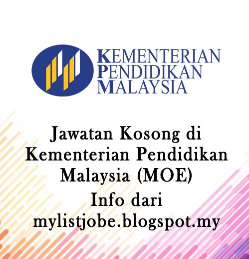 Jawatan Kosong Di Kementerian Pendidikan Malaysia Kpm 30 Oktober 2016 Appjawatan Malaysia