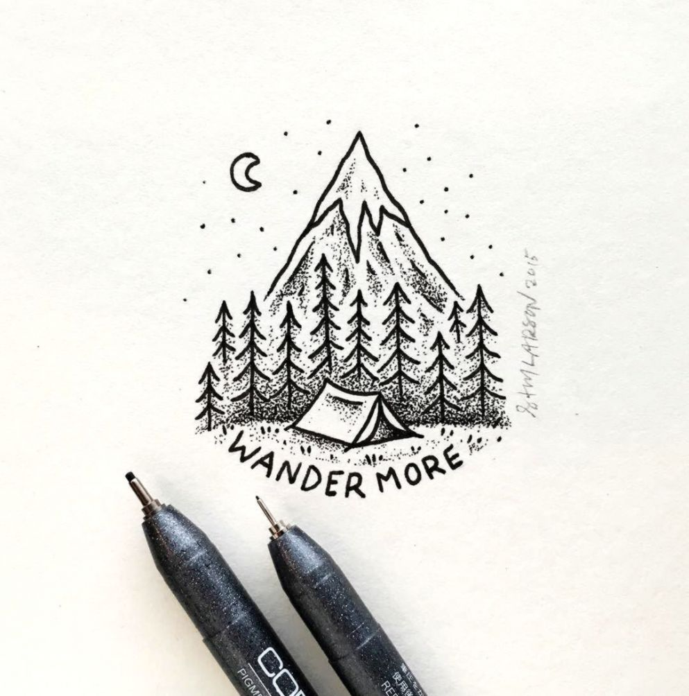 Simple Mountains Drawing Wallpapers Tumblr