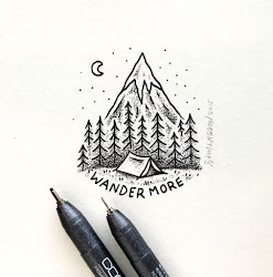 drawings easy tattoos simple drawing mountains wander he