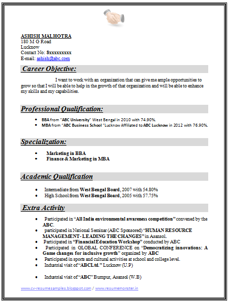 Salesforce consultant resume