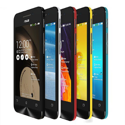 Asus Zenfone 4 Specifications - LAUNCH Announced 2014, January DISPLAY Type TFT capacitive touchscreen, 16M colors Size 4.0 inches (~59.6% screen-to-body ratio) Resolution 480 x 800 pixels (~233 ppi pixel density) Multitouch Yes Protection Corning Gorilla Glass 3 BODY Dimensions 124.4 x 61.4 x 6.3-11.2 Weight 115 g (4.06 oz) SIM Dual SIM (Micro-SIM, dual stand-by) PLATFORM OS Android OS, v4.3 (Jelly Bean), upgradable to v4.4.2 (KitKat) CPU Dual-core 1.2 GHz Chipset Intel Atom Z2520 GPU PowerVR SGX544MP2 MEMORY Card slot microSD, up to 64 GB (dedicated slot) Internal 4/8 GB, 1 GB RAM CAMERA Primary 5 MP, autofocus Secondary Yes Features Panorama, face detection Video 1080p@30fps NETWORK Technology GSM / HSPA 2G bands GSM 850 / 900 / 1800 / 1900 3G bands HSDPA 850 / 900 / 1900 / 2100 Speed HSPA 42.2/5.76 Mbps GPRS Yes EDGE Yes COMMS WLAN Wi-Fi 802.11 b/g/n, Wi-Fi Direct, hotspot GPS Yes, with A-GPS, GLONASS USB microUSB v2.0 Radio No Bluetooth v4.0, A2DP, EDR FEATURES Sensors Accelerometer, proximity Messaging SMS(threaded view), MMS, Email, Push Email, IM Browser HTML Java No SOUND Alert types Vibration; MP3, WAV ringtones Loudspeaker Yes 3.5mm jack Yes BATTERY  Removable Li-Po 1200/1600 mAh battery Stand-by Up to 192 h Talk time Up to 10 h Music play  MISC Colors Charcoal Black, Pearl White, Cherry Red, Sky Blue, Solar Yellow SAR US 1.18 W/kg (head)  SAR EU 0.53 W/kg (head)      - MP3/WAV/eAAC+ player - MP4/H.264 player - Document viewer - Photo viewer/editor - Voice memo/dial