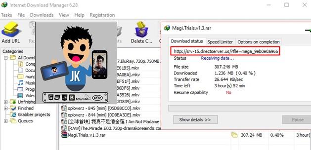kotak dialog Download IDM akan muncul secara otomatis