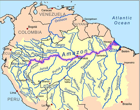 historia de manaus - mapa do amazonas