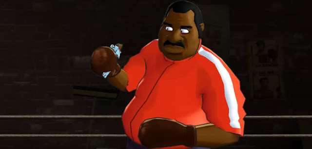 Doc Louis eating a chocolate bar in Punch out!!