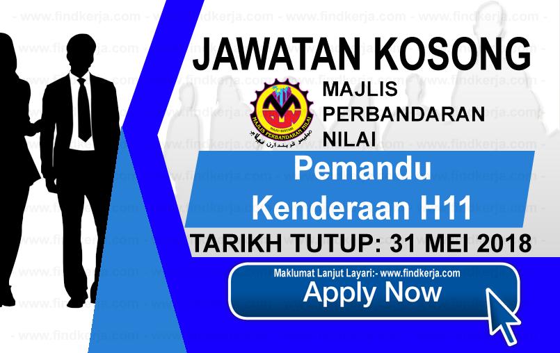 Jawatan Kerja Kosong MPN - Majlis Perbandaran Nilai logo www.findkerja.com mei 2018