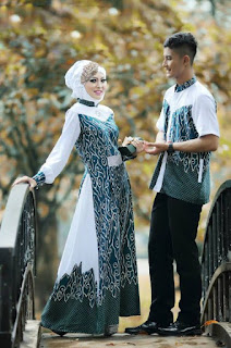 Contoh Model Batik Couple Modern 2019