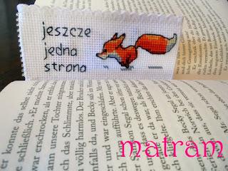 zakładka do książek lis