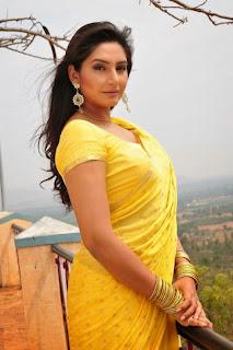 Ragini Dwivedi in yellow saree