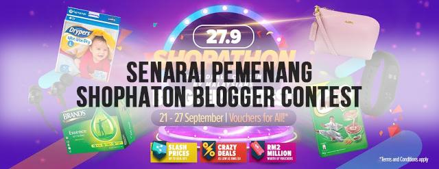 Tahniah Kepada Pemenang Shopathon Blogger Contest
