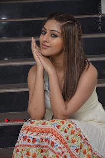Telugu Actress Anu Emmanuel New Stills in Beautiful White Long Dress  0048.JPG