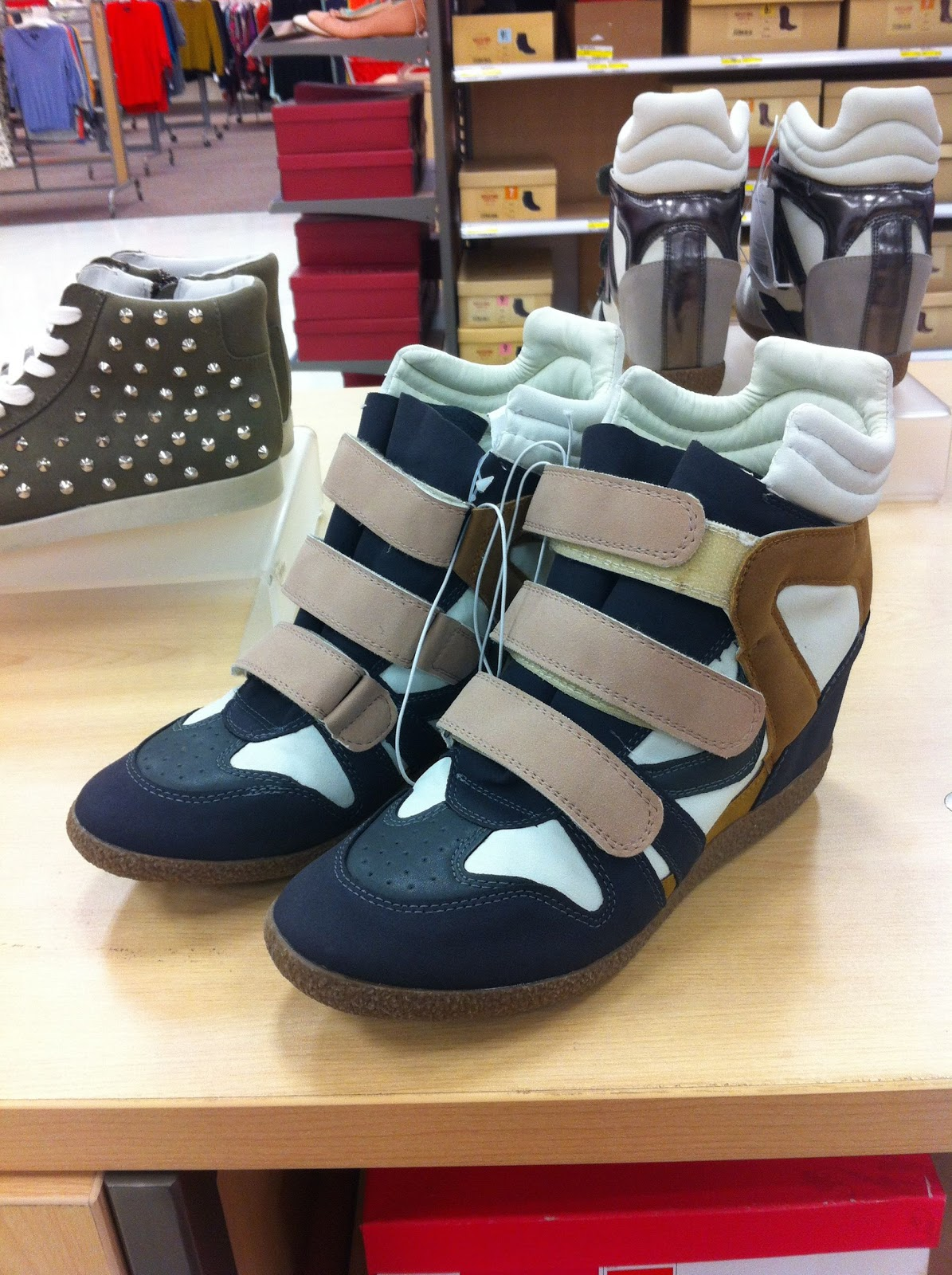 2bca0071bc92 I Love Orla Kiely  High Top Wedge Sneakers