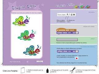 Tarjetas para Scratch programación para niños