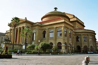 The impressive Teatro Massimo in Palermo