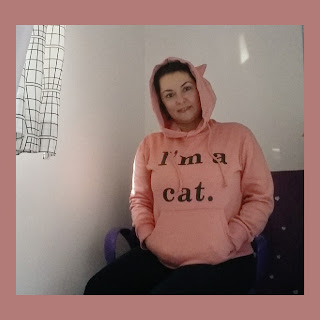 hoodie-pink-ı'm a cat-